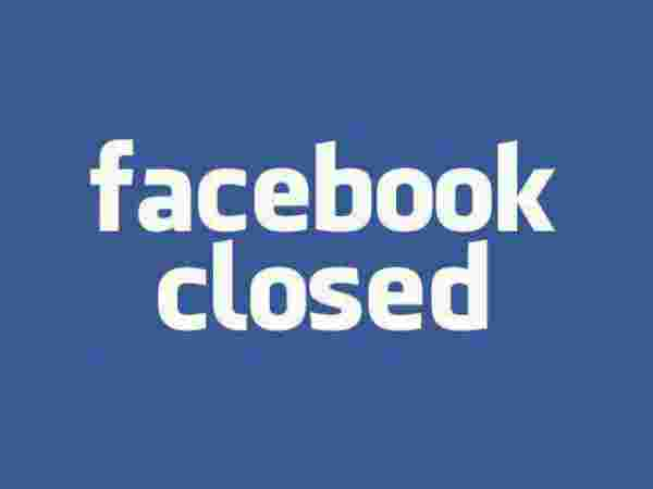 Facebook will be closed