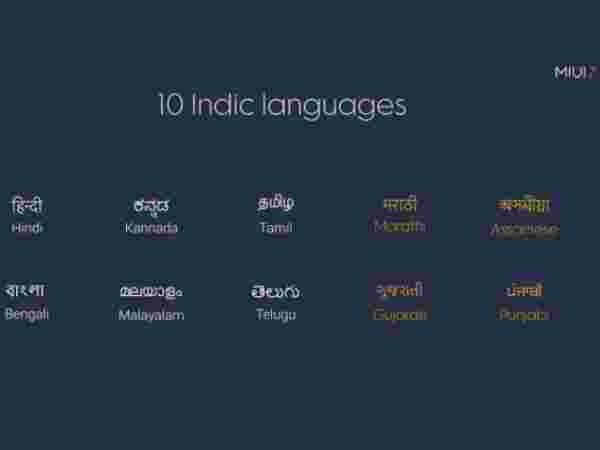 Indian Languages Support