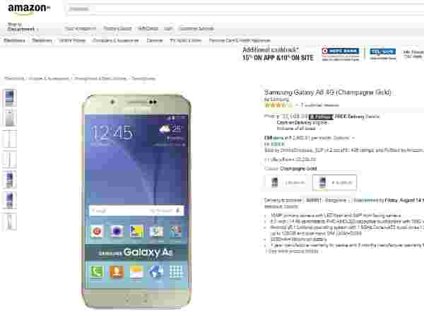 Amazon: Samsung Galaxy A8