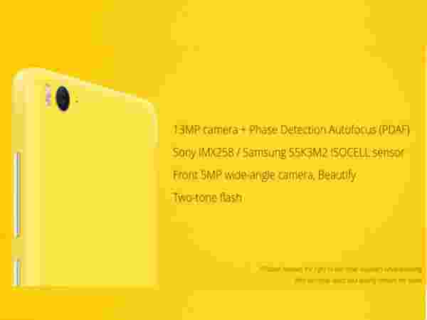 Improved 13MP camera with PDAF sensor