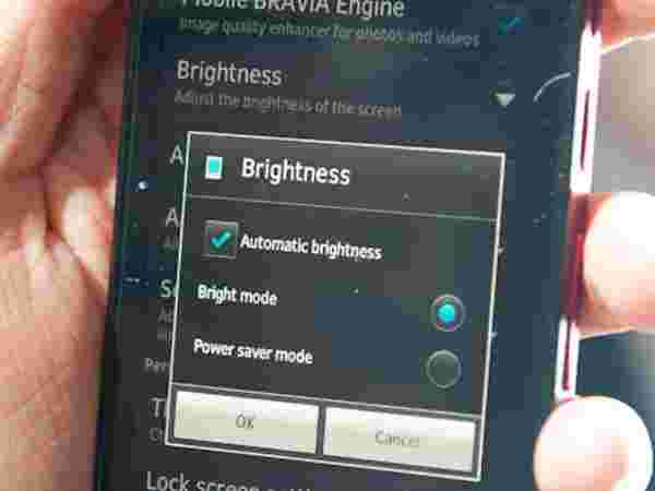 Adjust Display Brightness