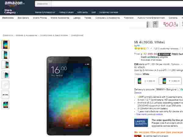 Mi 4i (16GB, White) Available in Amazon