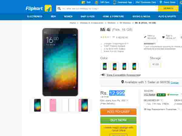 Mi 4i (Pink, 16 GB) Available in Flipkart