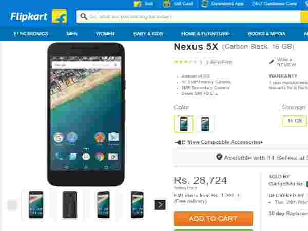 Google Nexus 5X (Carbon Black, 16 GB)