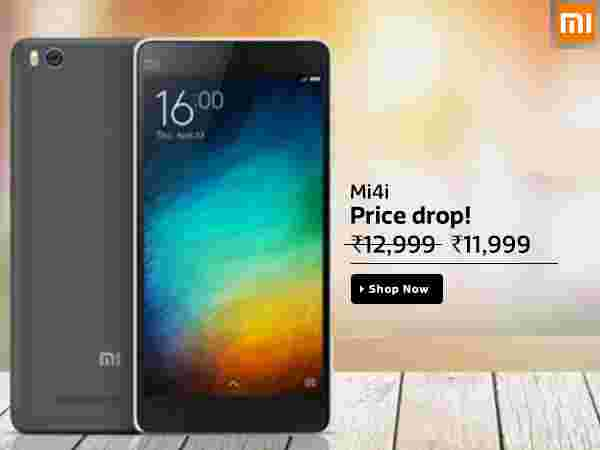 Xiaomi Mi 4i(Yellow, 16 GB) Available in Flipkart