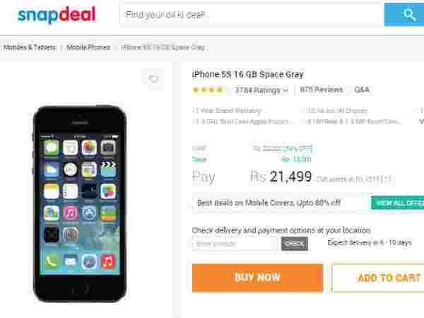 iPhone 5s 16 GB Price in Snapdeal