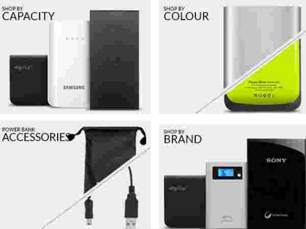 Best Power Bank starts from Rs. 155