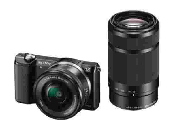 Sony ILCE-5000Y with SELP1650 & SEL55210 Lens Mirrorless Camera