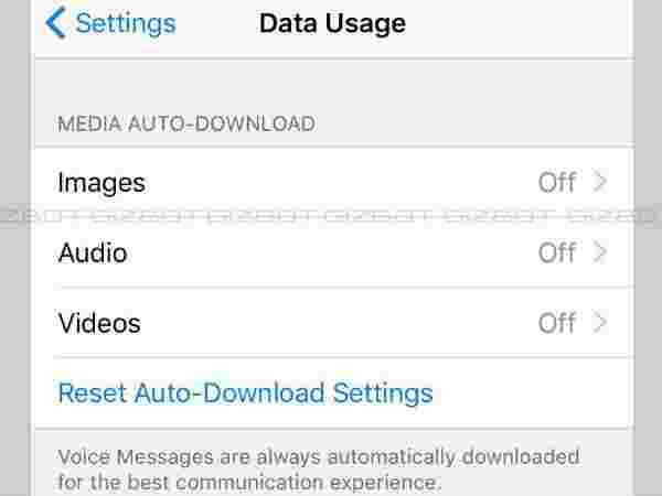 Manage auto-download of media