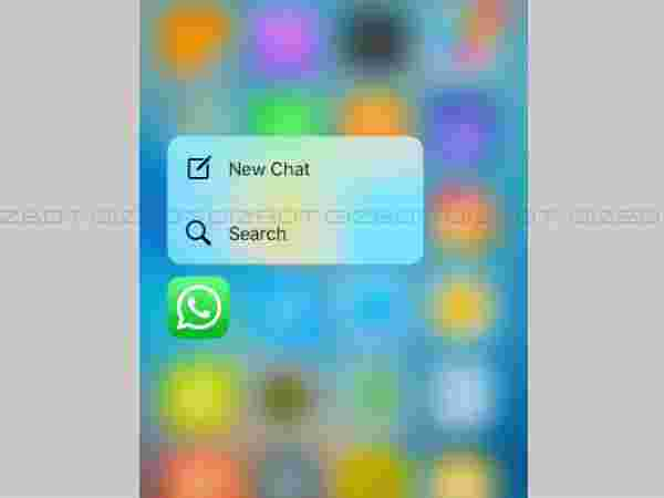 Start new chat from the home screen (iPhone exclusive)