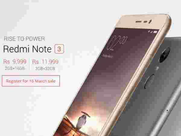 Xiaomi Redmi Note 3 Flash Sale