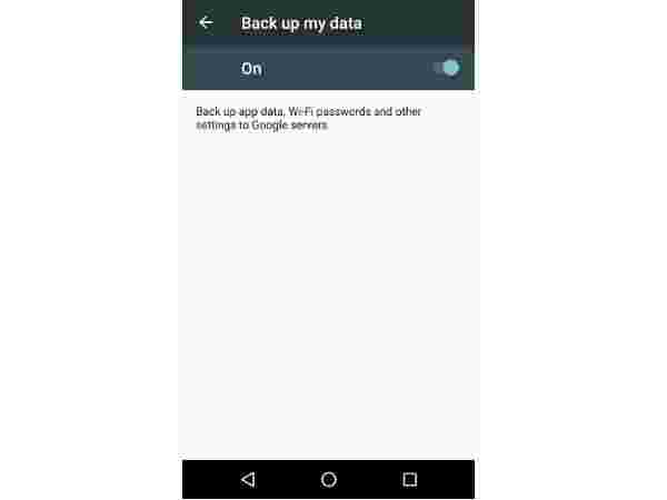 Back up my Data