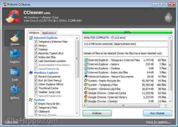 Use Ccleaner