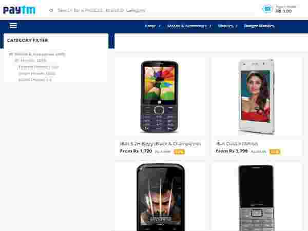 The Budget Range Smartphones Now at 15% Cashback only at Paytm