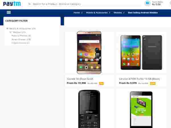 BEST SELLING Mobile Phones With 20% Discount and  Under Rs.5,000 To Pick at Paytm