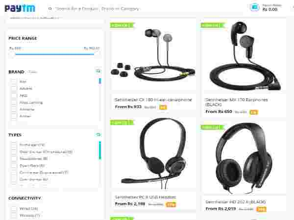 Sennheiser Headphones Now all at 30% Discount only at paytm