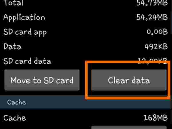 Clear all cached app data