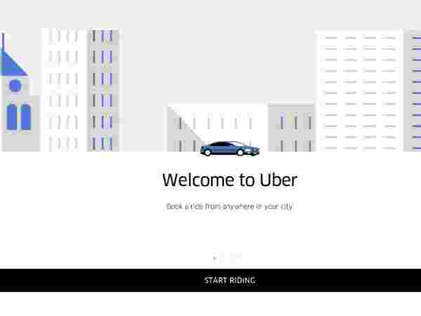 Use the Uber webpage to book a cab