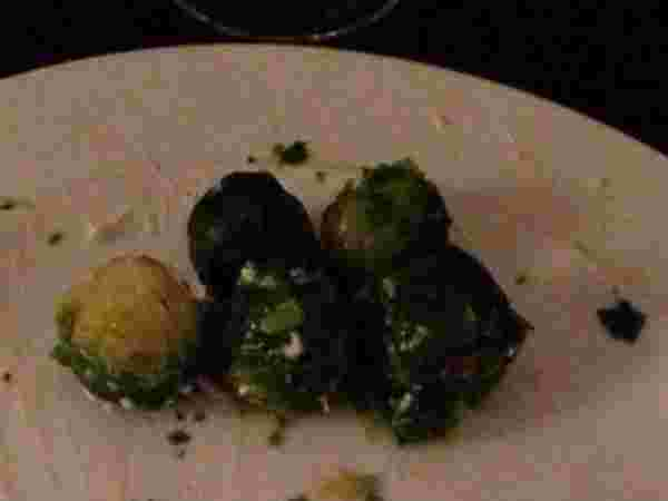 Uneaten Brussels sprouts