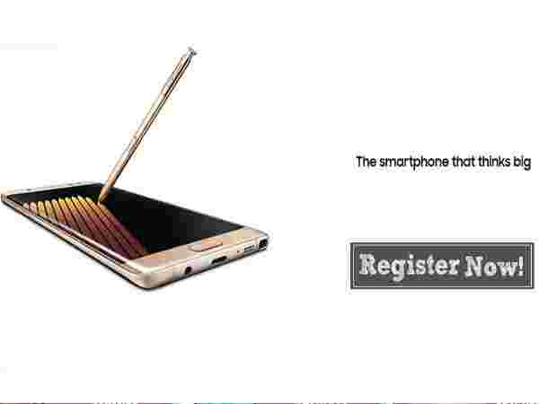 Samsung Galaxy Note 7 Booking At Univercell