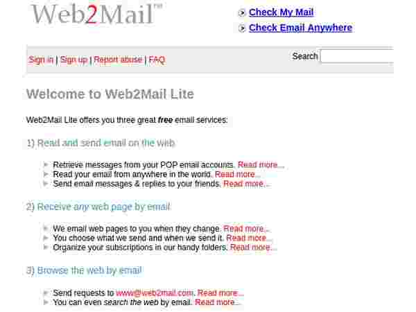 Access Web Pages via Email