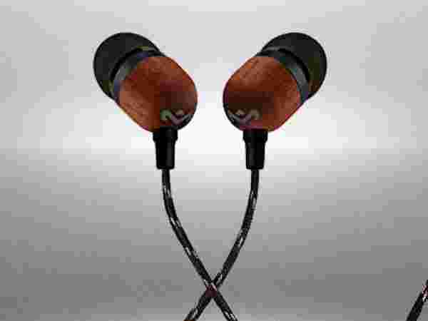 House of Marley Smile Jamaica EM-JE041-SB In-Ear Headphones (Black) with Mic