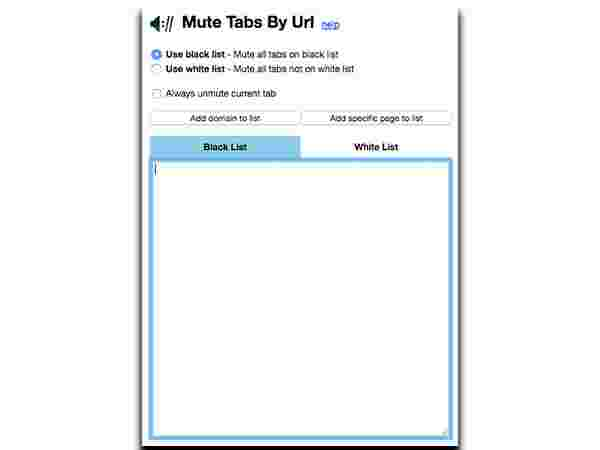 2. Use Chrome-Extensions Mute Tabs By URL