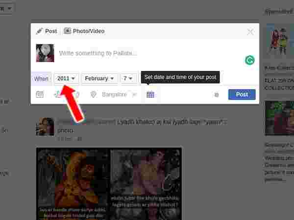 How to Share a post in the Past on Facebook