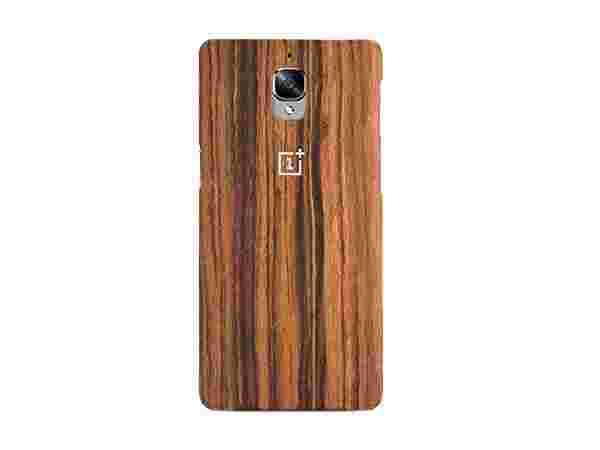 OnePlus 3 Rosewood Case Displays a Natural Wooden Texture