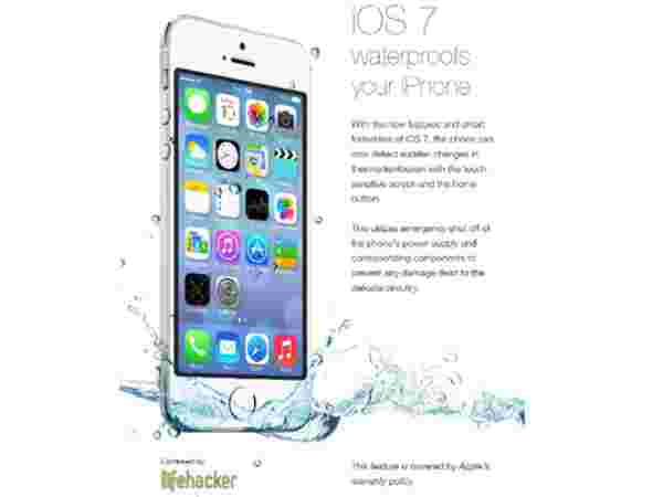 Updating the iPhone to iOS 7 will make it waterproof