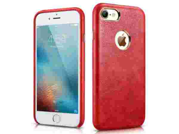 Premium Leather Back Cover Case (Red)