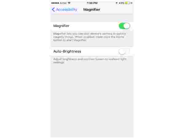 How to use the Magnifier feature: