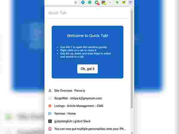 The Best Extensions to manage Google Chrome tabs - Gizbot News