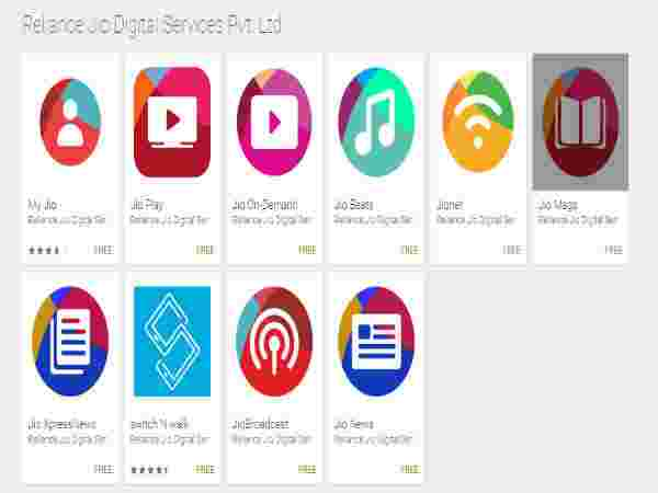 Jio suite of apps