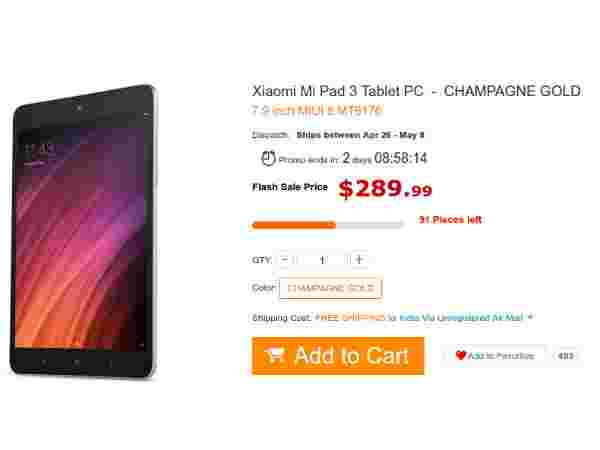 Buy Xiaomi Mi Pad 3 at a discount price