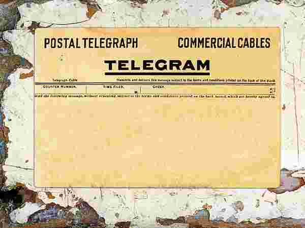 Usage in telegrams