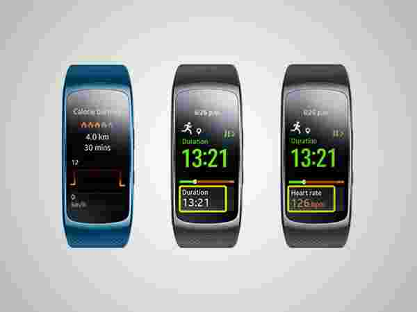 Monitors calories burnt and heart rate
