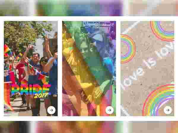 Pride-theme effects in the Messenger Camera