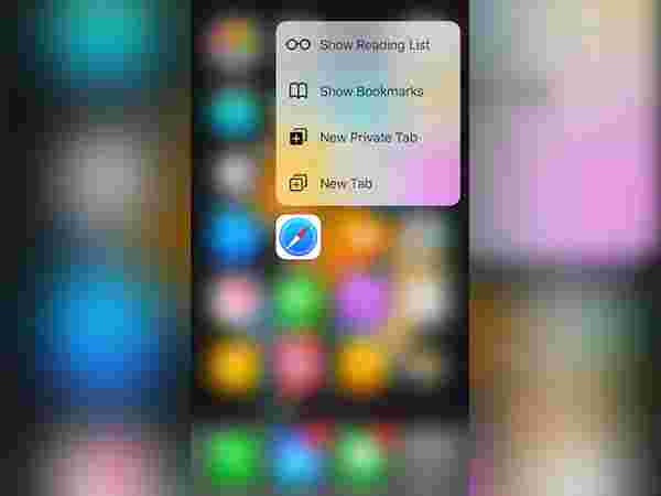 3D touch to peek into the link