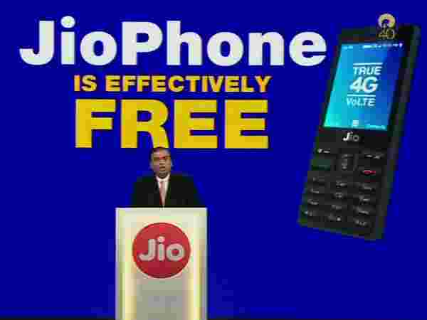 JioPhone is for free