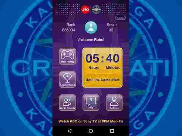 How to play Jio KBC Play Along?