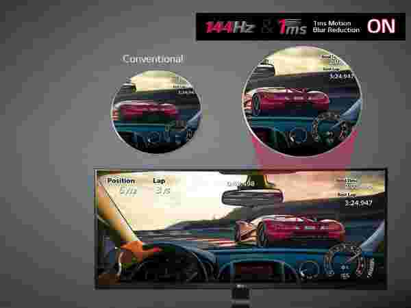 1ms Motion Blur Reduction and 144Hz refresh rate for unstoppable smooth game play