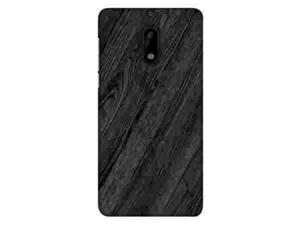 Blutec Wooden Texture Design 3D Printed Hard Back Case Cover for Nokia 6