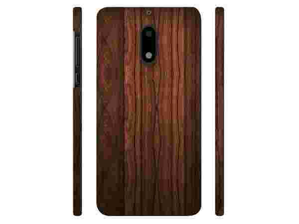 Casotec Wooden Texture Design 3D Printed Hard Back Case Cover for Nokia 6