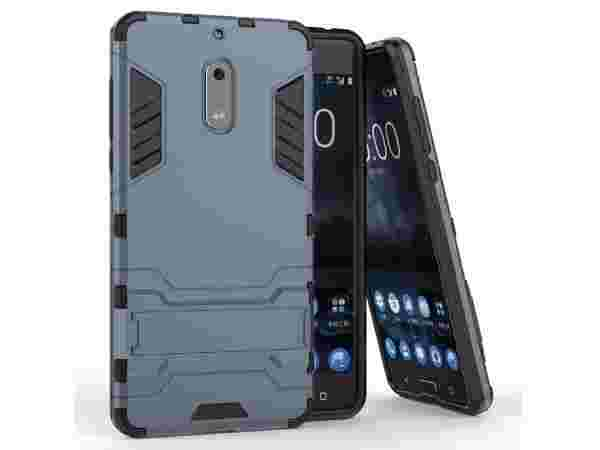 DMG Nokia 6 Back Cover, Sturdy Hybrid Kick Stand Armour Back Cover Case