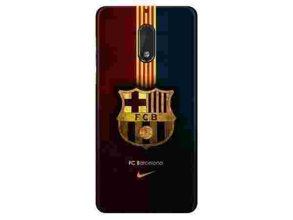 Printed Back Cover For Nokia 6 3D Designer FC barcelona Plastic Case By Highbrow