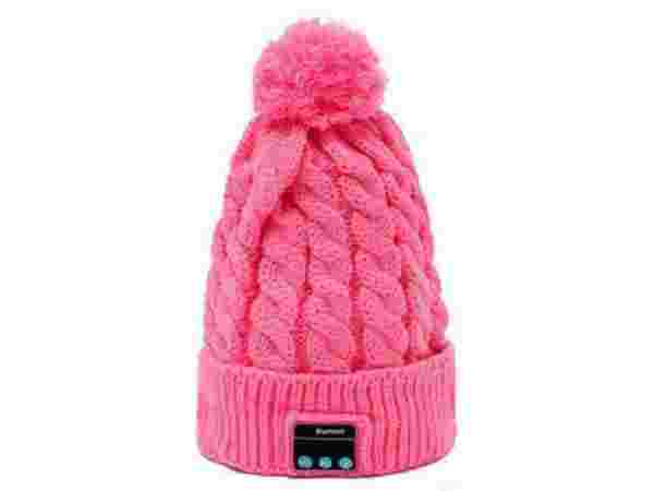 Brand New Bluetooth Hat  (Pink)