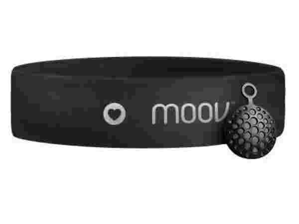 Moov HR Sweat - Limited Edition Smart Heart Rate Monitor and Audio Coach for HIIT Training - Stealth Black