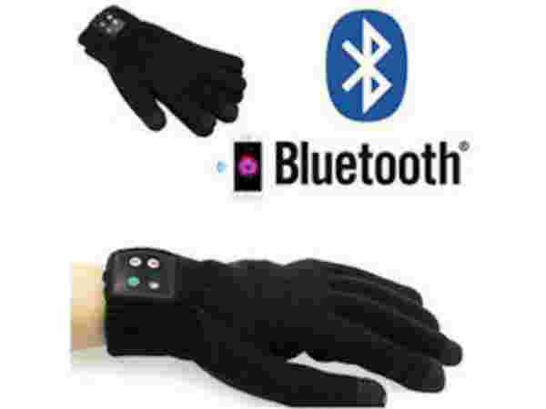 Shrih Bluetooth Handy Phone Gloves  (M Black)