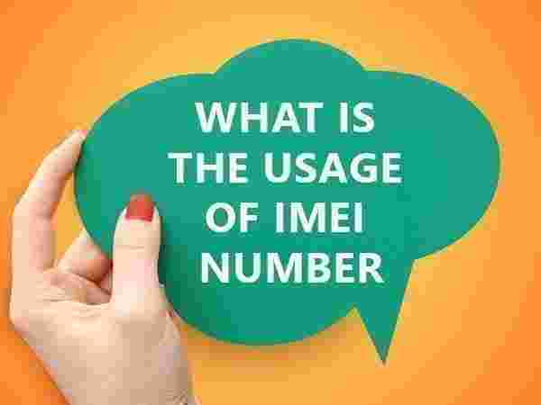 What is the usage of IMEI number?